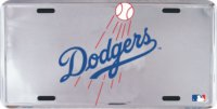 Los Angeles Dodgers Deluxe Anodized License Plate