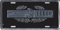 Army Action Combat Badge License Plate