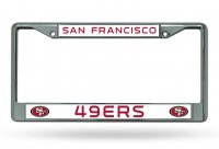 San Francisco 49'ers Chrome License Plate Frame