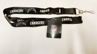 Los Angeles Chargers Blackout Lanyard With Safety Latch