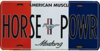HORSE POWR License Plate
