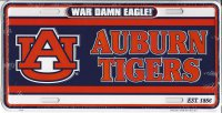 Auburn Tigers War Damn Eagle! License Plate