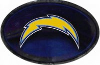 Los Angeles Chargers Chrome Die Cut Oval Decal