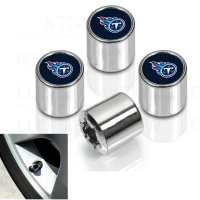 Tennessee Titans Chrome Valve Stem Caps