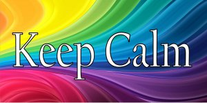 Keep Calm Rainbow Colors Photo License Plate