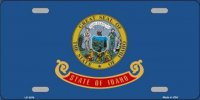 Idaho State Flag Metal License Plate