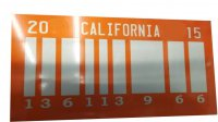 Back To The Future 2 Bar Code Photo License Plate