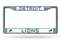 Detroit Lions Chrome License Plate Frame