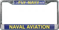 Fly Navy Naval Aviation License Plate Frame