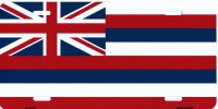 Hawaii State Flag Metal License Plate