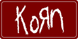 Korn On Red Photo License Plate