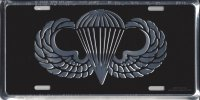 Army Paratrooper Wings License Plate