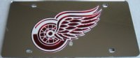 Detroit Red Wings (Silver) Laser License Plate