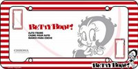 Betty Boop Red Stripes Plastic License Plate Frame