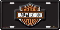 Harley-Davidson Bar and Shield Black License Plate