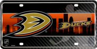 Anaheim Ducks Metal License Plate