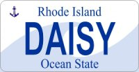 Design It Yourself Rhode Island State Look-Alike Bicycle Plate