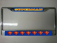 Superman Photo License Plate Frame