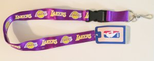 Los Angeles Lakers Purple Lanyard With Safety Fastener