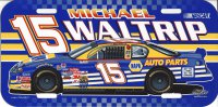 Michael Waltrip #15 Nascar Plastic License Plate