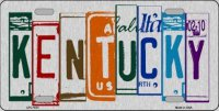 Kentucky Cut Style Metal License Plate