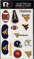 West Virginia Mountaineers Variety Pack Tattoo Set