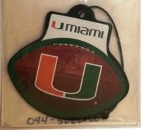 Miami Hurricanes NCAA College Team Air Freshener
