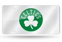 Boston Celtics Silver Laser License Plate