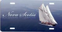 Nova Scotia Boat Airbrush License Plate