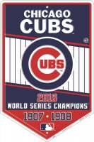 Chicago Cubs 2016 World Series Champs Metal Parking Sign