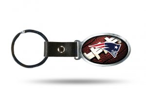 NEW England Patriots Accent Metal Key Chain