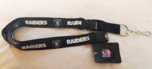 Oakland Raiders Blackout Lanyard With Safety Latch