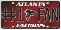 Atlanta Falcons #1 Fan License Plate