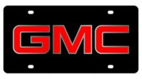 GMC Logo Black Laser Cut License Plate