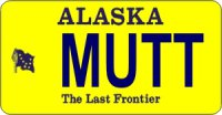 Design It Yourself Alaska State Look-Alike Bicycle Plate
