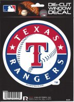 Texas Rangers Die Cut Vinyl Decal
