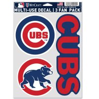 Chicago Cubs 3 Fan Pack Decals