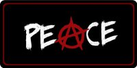 Anarchy Peace Photo License Plate