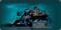 Batman Gotham On Blue Photo License Plate