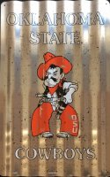Oklahoma State Cowboys Corrugated Metal Sign