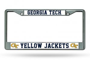 Georgia Tech Yellow Jackets Chrome License Plate Frame