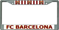 Barcelona Football Club Chrome License Plate Frame