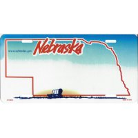 Nebraska State Look-A-Like License Plate