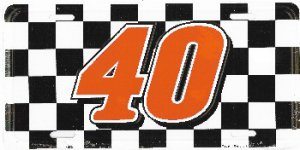 Sterling Marlin #40 Checkered Flag Plate