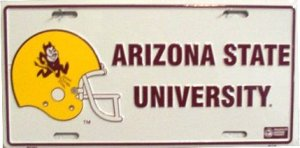 Arizona State University (helmet) License Plate