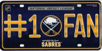 Buffalo Sabres #1 Fan Metal License Plate