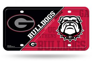 Georgia Bulldogs Metal License Plate