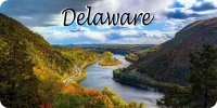 Delaware Mountain River Scene Photo License Plate