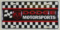Dodge Motorsports Checker Flag License Plate