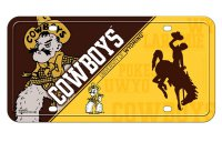 Wyoming Cowboys Metal License Plate